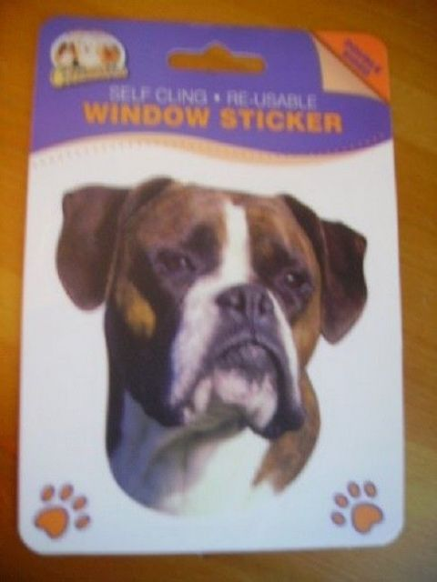 BOXER DOUBLE SIDED WINDOW STICKER